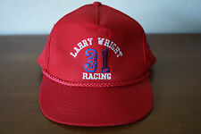 Vintage Larry Wright Racing # 31 Ford Snap Back Trucker Hat Red