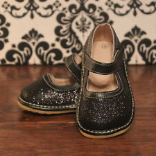 Black Sparkle Girls Mary Jane Sparkly Squeaky Shoes, Sizes 3 4 5 6 7 8 9