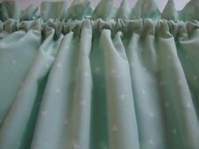 Mint Green with White Triangles Valance Window Treatment Any Room Custom Made