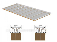 Complete Timber Supported Polycarbonate Roof Kit 2.5 Metre Long 8 Metre Wide.