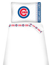 CHICAGO CUBS SHEET SET, TOSS PILLOW & PILLOW SHAM