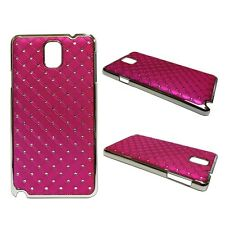 RHINESTONE DIAMANTE GEM HARD BACK CASE IN HOTPINK SAMSUNG GALAXY NOTE 3 GT N9000