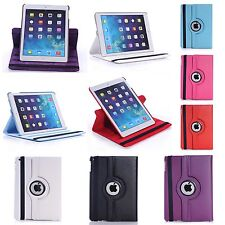 APPLE IPAD AIR IN VARIOUS COLOUR PU LEATHER 360 DEGREE ROTATING CASE COVER