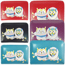 Fashion Ladies Faux Leather Winter Owl Couple Zip Small Coin Purse Womens Wallet