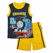 NEW NWT Thomas and Friends Tank Engine 2T 3T or 4T Tank and Shorts Set Cotton
