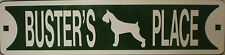 Bedlington Terrier Dog Custom Personalized Street Sign Pet Name Great Gift Idea!