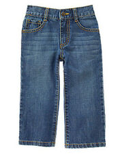 NWT Gymboree Boys Size 2T 3T 4T Denim Bootcut Fit Adjustable Waist Jeans