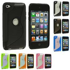 Color TPU S-Line S-Shape Deluxe Rubber Case Cover for iPod Touch 4th Gen 4G 4