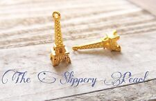 Eiffel Tower Charms Gold Eiffel Tower Charms Paris Charms France Charms 10pcs