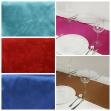 "6 pcs 14"" x 108"" Embossed Satin TABLE RUNNERS Wedding Party Banquet Decorations"
