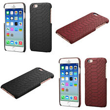 Stylish Leather Snake Skin Cover  Snap On Protector Phone Case Apple iPhone 6 6s
