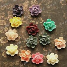 6/13pcs Vintage Flower Resin Lucite Cabochons Scrapbooking Jewelry DIY 10x10mm