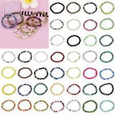 Wholesale Natural Stone Jade Round Beads Stretch Bracelet Women Gift 67 Colors
