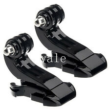 Lot Vertical Surface J Hook Buckle Mount Adapter for Gopro Hero 2 3 3+ 4 Session