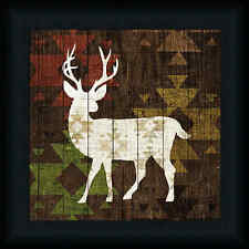 Southwest Lodge Deer I Michael Mullan Tribal Print Animal Framed Art Picture