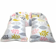 Organic Cotton Hot or Cold Therapy Flax Neck Pillow Organic Herbs - Flannel pink