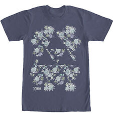 Nintendo Legend of Zelda Floral Triforce Mens Graphic T Shirt