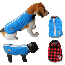 Paw prints BLANKET COAT Reversible Dog Jacket Reflective Warm Pet Clothes New