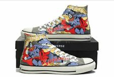 Converse Superman Unisex Trainers Hi Top, Trainer Boots White Red Print comic
