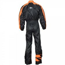 Rain Suit 1 Piece Suit Motorcycle Motorbike Waterproof  Orange/Black,