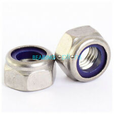 Marine Stainless Steel A4 Nyloc/Nylon Insert Locking Nut M3,M4,M5,M6,M8,M10,M12