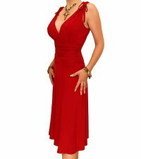 New Elegant Grecian Style Evening Dress - Knee Length