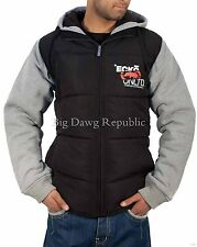Ecko Mens Boys Full Zip Padded Body Warmer Jacket Hip Hop Money Is Time Grey/Blk