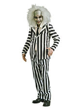 Adult Beetlejuice Fancy Dress Costume Mens Gents Male BN