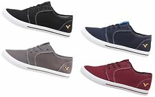 MENS TRAINERS VOI JEANS BRONSON LACE-UP STYLE IN BLACK GREY NAVY BURGUNDY 6-11