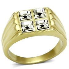 14K GOLD EP 3.6CT DIAMOND SIMULATED MENS DRESS RING size 8 - 14 you choose
