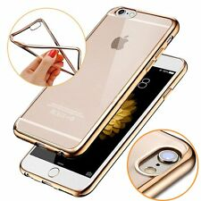 Crystal Metal Plating Bumpers TPU Rubber Case Cover for Apple iPhone 6&6s 6 Plus