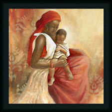 Beauty of Love I Nan 20x20 Mother with Baby Art Print Framed Picture Wall Decor
