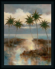 After the Rain I T.C. Chiu 28x22 Tropical Palm Tree Art Print Framed Picture