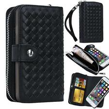 luxury PU Leather Wallet Flip Case Cover Credit Card Holder for iphone samsung