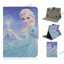 "For Most 9.7"" 10"" 10.1"" Universal PU Leather Case Cover Tablet PC cartoon frozen"