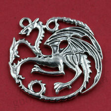 2/10pcs Tibet Silver Refined Pterosaur Round Charm Pendant Jewelry Necklace DIY