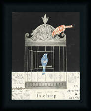 La Chirp Emily Adam Birdcage Collage Framed Art Print Wall Décor Picture Artwork