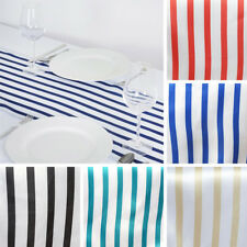 "12 pcs TABLE RUNNERS 12x108"" STRIPES SATIN Wedding Catering Reception Dinner"