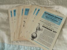 TOTTENHAM HOTSPUR SPURS HOME PROGRAMMES FROM 1962/3 CHOOSE FROM LIST