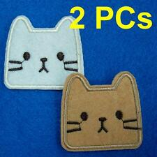 2 Cat Kitty Iron on Sew Patch Applique Badge Embroidered Biker Applique Baby Lot