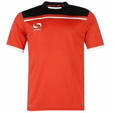 Sondico Precision Football Training Jersey Mens Red/Black Shirt Top Tee Soccer