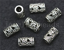 New 20/100/500pcs Tibetan Silver Exquisite Cylinder Charm Spacer Beads DIY 9x5mm