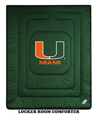 MIAMI HURRICANES LOCKER ROOM COMFORTER, TOSS PILLOW & PILLOW SHAM