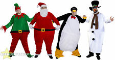 FAT CHRISTMAS FANCY DRESS SANTA ELF PENGUIN COSTUME XMAS NOVELTY OUTFIT