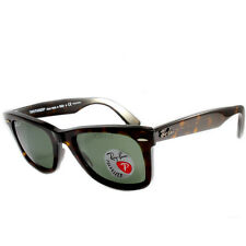 Ray Ban RB2140 902/58 Wayfarer Tortoise/Green Polarised Sunglasses Size 50