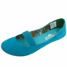 LADIES FLAT SLIP-ON TURQUOISE CASUAL DOLLY BALLERINA SHOES BALLET PUMPS SIZE 3-8