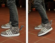 NEW SUEDE LEOPARD HIGH-TOP COUPLE SKATEBOARD CASUAL HIP-HOP SPORTS TAIL SHOES