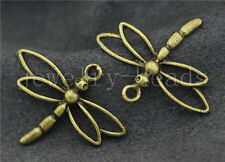 New 5/20/100pcs Antique Bronze Lovely Dragonfly Alloy Charms Pendant DIY 31x26mm