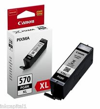 1 x Canon Original Black High Capicity OEM Ink Cartridge PGI-570XL PGBK - 22ml