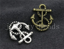 New 10/40/200pcs Antique Silver Beautiful Boat anchor Charm Pendant DIY 17x14mm